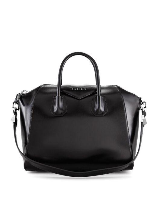 Lyst - Givenchy Antigona Medium Leather Tote Bag in Black - Save ... ab90cdca4f415