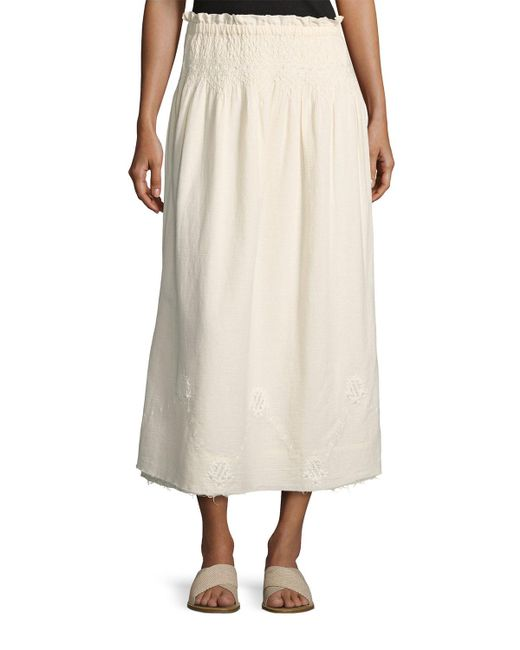 Current/Elliott - Natural The Rancher Convertible Maxi Skirt - Lyst