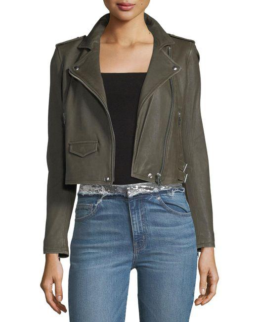 IRO - Natural Ashville Leather Moto Jacket - Lyst