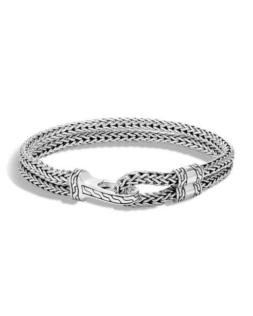 John Hardy - Metallic Men's Double Classic Chain Hook Bracelet for Men - Lyst