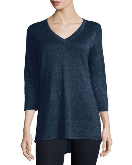 Belford - Multicolor 3/4-sleeve V-neck Tunic - Lyst