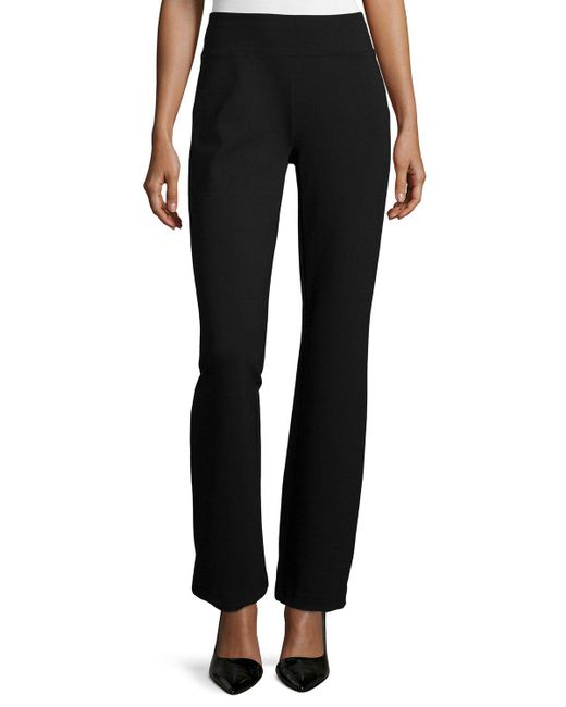 Joan Vass - Black Ponte Boot-leg Pants - Lyst