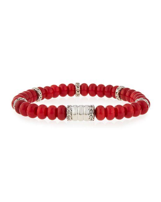John Hardy - Red Men's Batu Bedeg Coral Beaded Bracelet for Men - Lyst