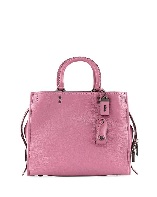 COACH - Pink Rogue Small Leather Tote Bag - Lyst