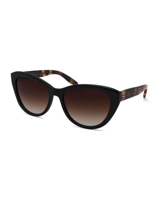 Barton Perreira - Brown Graziana Cat-eye Acetate Sunglasses - Lyst