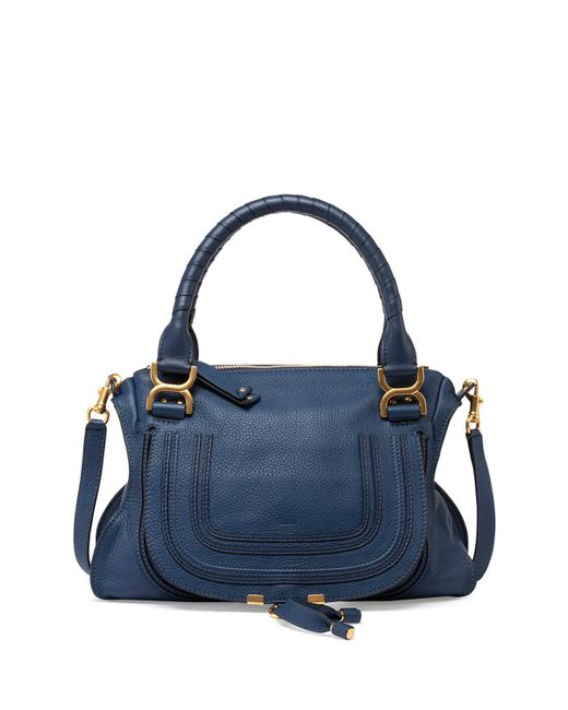 Chloé | Blue Marcie Large Leather Satchel Shoulder Bag | Lyst