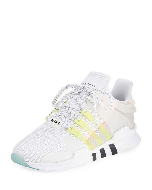 lyst adidas eqt appoggio avanzata delle scarpe da ginnastica in bianco