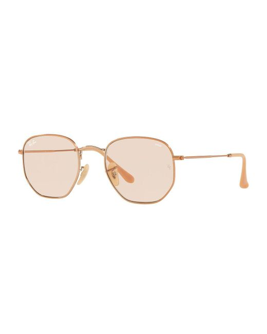 Ray-Ban - Brown Square Steel Monochromatic Sunglasses - Lyst