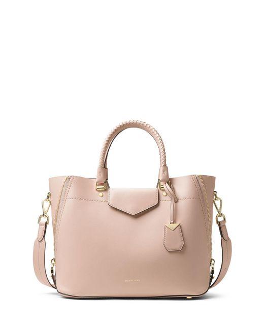 MICHAEL Michael Kors - Pink Blakely Medium Leather Tote Bag - Lyst