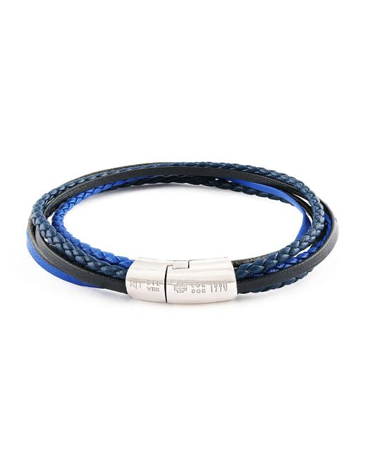 Tateossian - Blue Men's Multi-strand Leather Cobra Bracelet for Men - Lyst