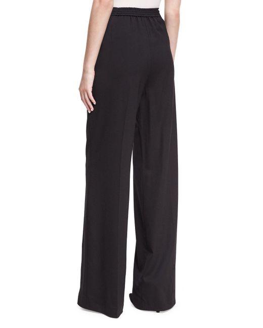 Etro | Black Largo Wool High-waist Wide-leg Pants | Lyst