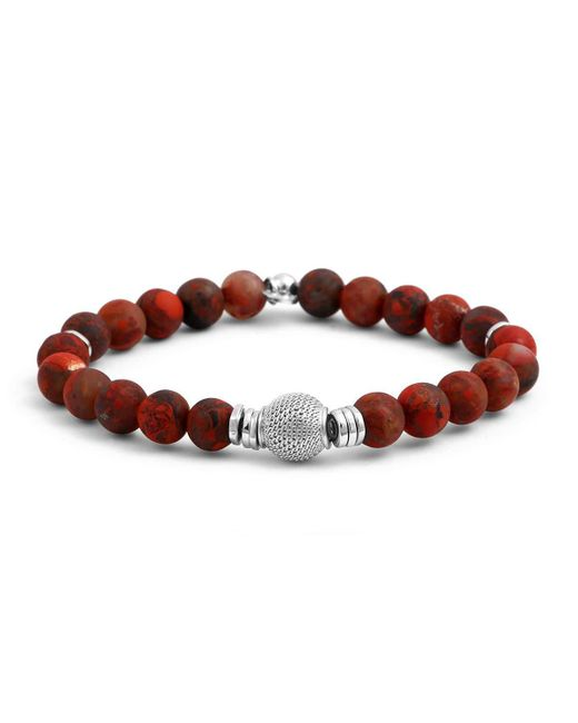 Tateossian - Red Men's Stonehenge Bead Bracelet for Men - Lyst