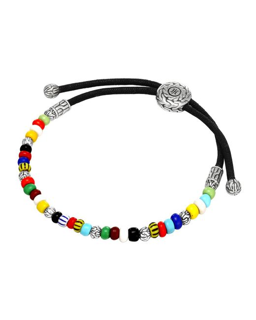 John Hardy - Multicolored Silver Round Beaded Bracelet - Lyst