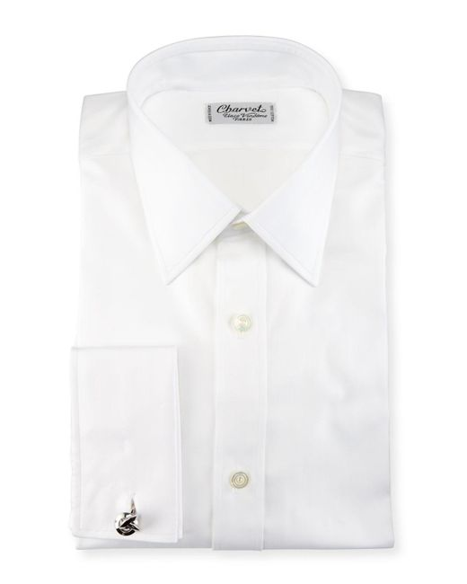 Charvet | White Herringbone French-cuff Dress Shirt for Men | Lyst