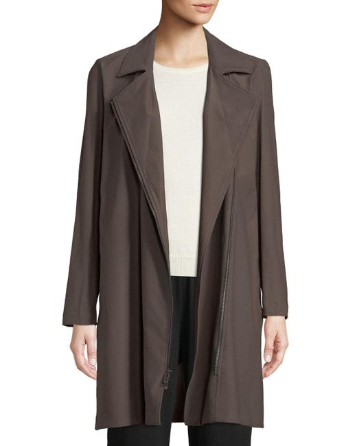 Eileen Fisher - Multicolor Washable Stretch Crepe Moto Jacket Plus Size - Lyst