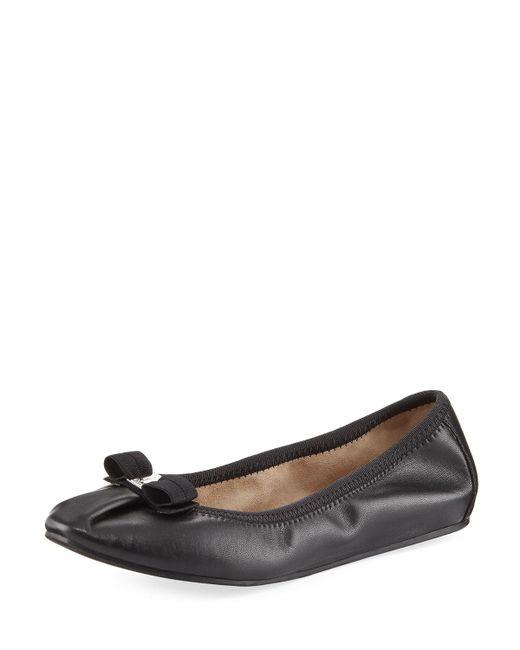 Ferragamo - Black My Joy Leather Ballet Flats - Lyst