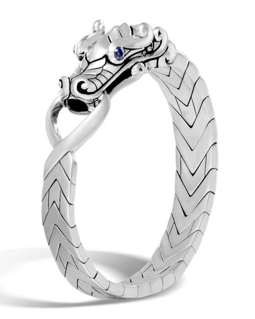 John Hardy - Metallic Men's Sterling Silver Legends Naga Bracelet With Sapphire Eyes for Men - Lyst