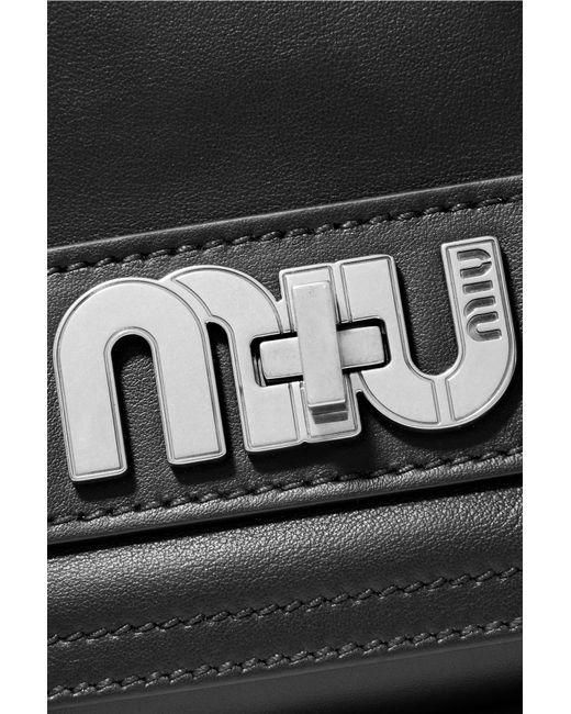 1ef6e2589298 ... Miu Miu - Black Grace Leather Shoulder Bag - Lyst ...
