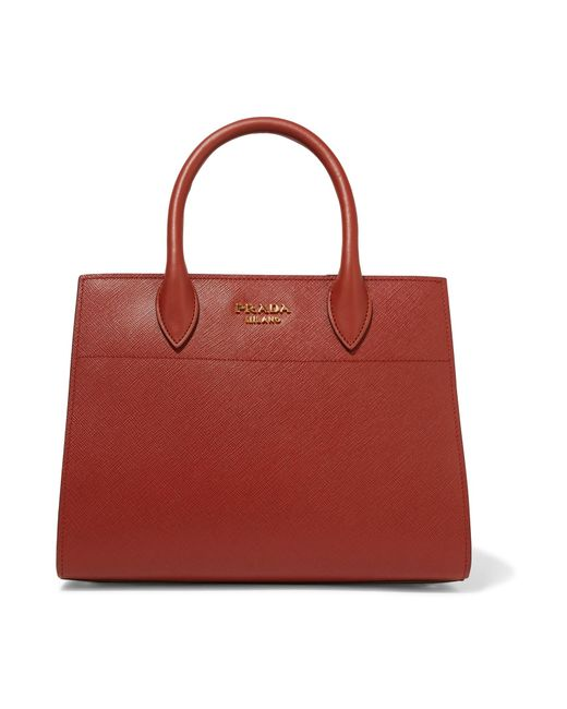 Prada | Bibliotheque Textured-Leather Tote | Lyst