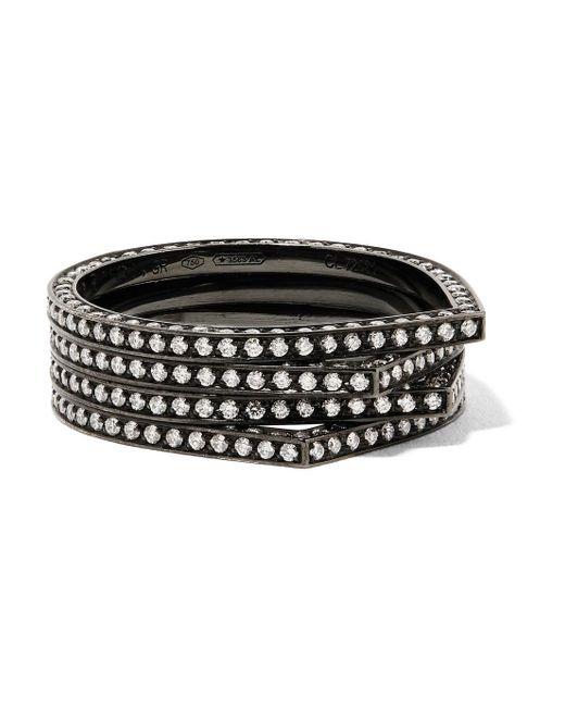 Repossi - Antifer 18-karat Black Gold-washed Diamond Ring - Lyst