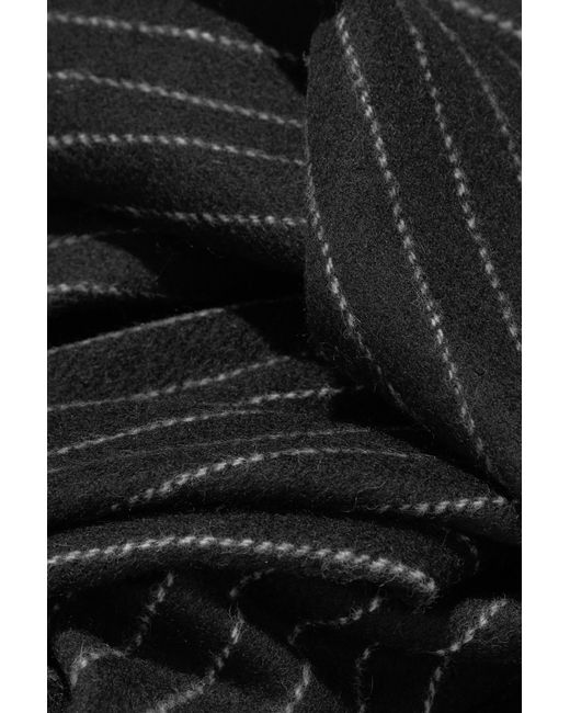 Fringed Pinstriped Wool Scarf - Black Rag & Bone i4LBAYIRs