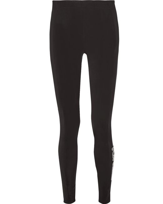 Fendi | Black Printed Tech-jersey Ski Leggings | Lyst