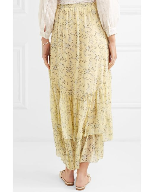 Clearance Limited Edition Buy Cheap Get To Buy Marilyn Asymmetric Ruffled Floral-print Silk-georgette Skirt - Yellow Ulla Johnson Cheap Price For Sale 100% Authentic New Styles For Sale cYpTpK