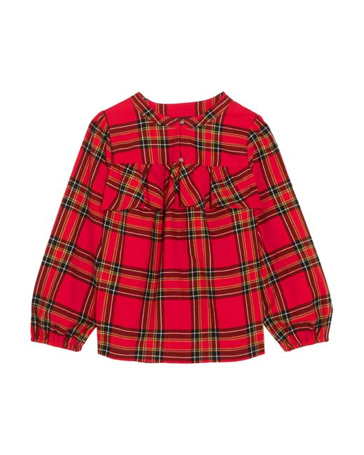 J.Crew | Red Gelder Ruffled Tartan Cotton-flannel Shirt | Lyst