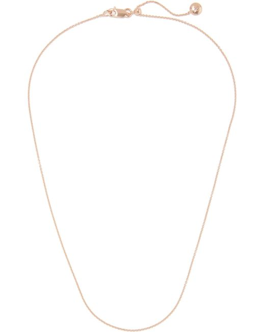 Monica Vinader - Metallic Rolo 17'' Rose Gold Vermeil Chain Rose Gold One Size - Lyst