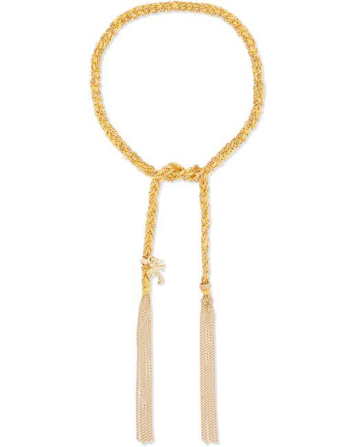 Carolina Bucci | Metallic Travel Lucky 18-karat Gold And Silk Bracelet | Lyst