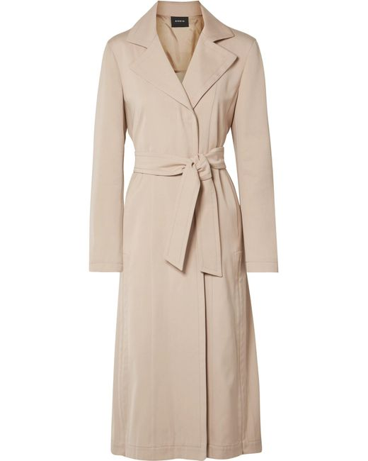 Akris - Natural Teri Belted Cotton And Silk-blend Coat - Lyst