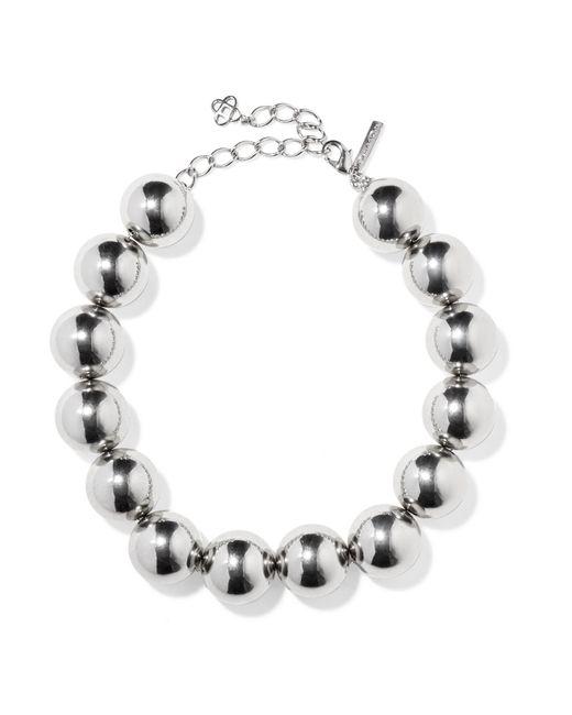 Oscar de la Renta | Metallic Silver-tone Necklace | Lyst