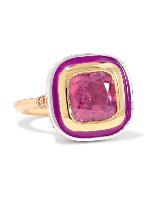 Alice Cicolini | Metallic Imperial 22-karat Gold, Sterling Silver, Enamel And Multi-stone Ring | Lyst
