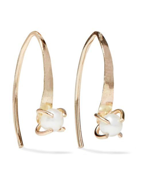 Melissa Joy Manning   Metallic 14-karat Gold Pearl Earrings   Lyst