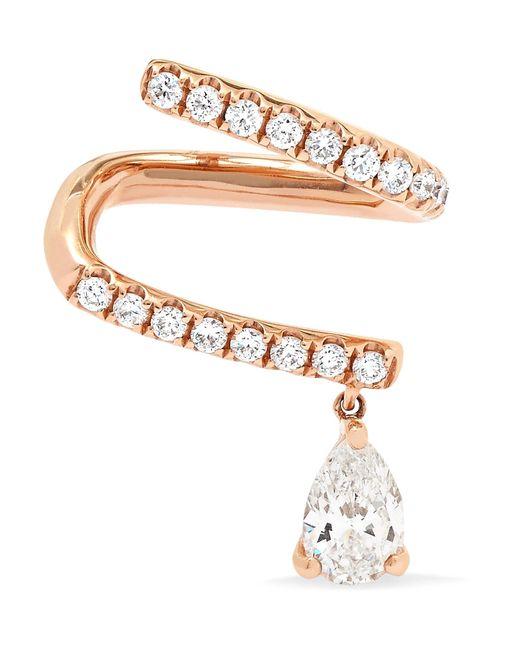 Anita Ko - Metallic 18-karat Rose Gold Diamond Earring Rose Gold One Size - Lyst