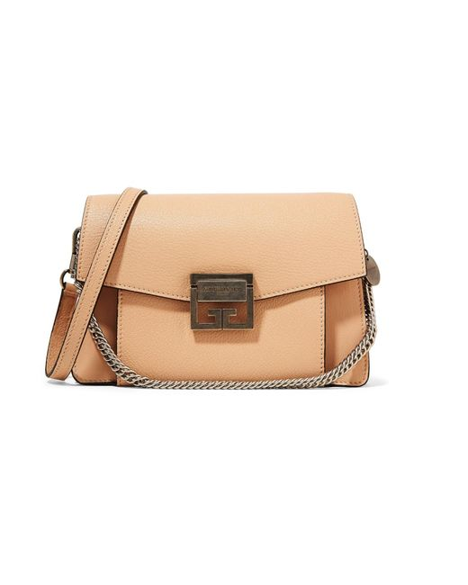 2aae764abe4b Givenchy - Natural Gv3 Small Leather Shoulder Bag - Lyst ...
