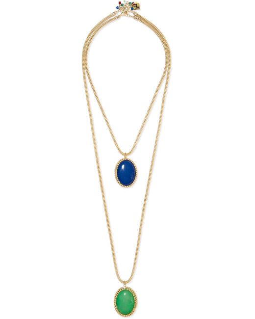 Rosantica - Metallic Vita Set Of Two Reversible Gold-tone Resin Necklaces Gold One Size - Lyst