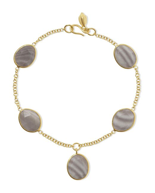 Pippa Small - Metallic 18-karat Gold Agate Bracelet - Lyst