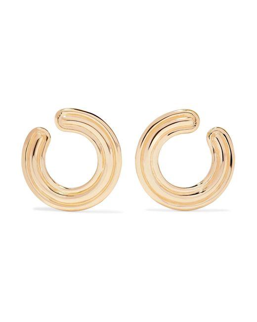 Melissa Kaye - Metallic Jen 18-karat Gold Hoop Earrings - Lyst