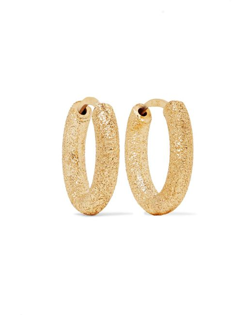 Carolina Bucci - Metallic 18-karat Gold Hoop Earrings - Lyst