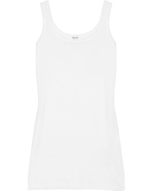 Splendid - White Cotton And Modal-blend Jersey Tank - Lyst