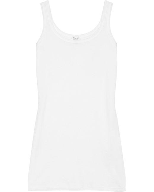 Splendid | White Cotton And Modal-blend Jersey Tank | Lyst