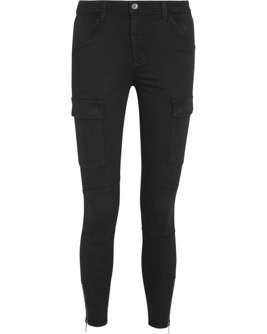 Splendid - Black Hunter Stretch Modal-blend Twill Skinny Pants - Lyst