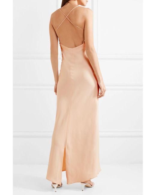 Margot Open-back Crepe Maxi Dress - Off-white Khaite Cheap Sale Cheapest Cheap Sale Explore QWgNmP