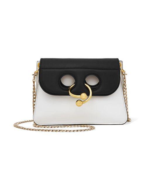 J.W. Anderson   White Pierce Mini Two-tone Leather Shoulder Bag   Lyst