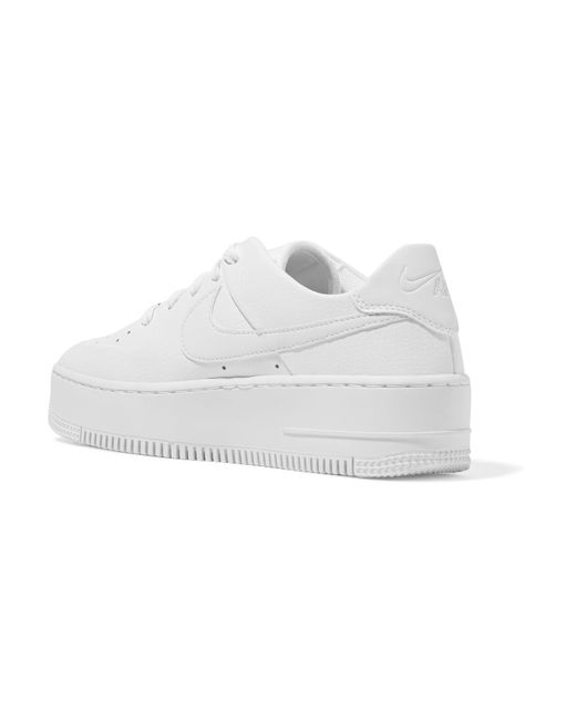 new products bb322 ed2f7 ... Nike - White Air Force 1 Sage Textured-leather Sneakers - Lyst ...