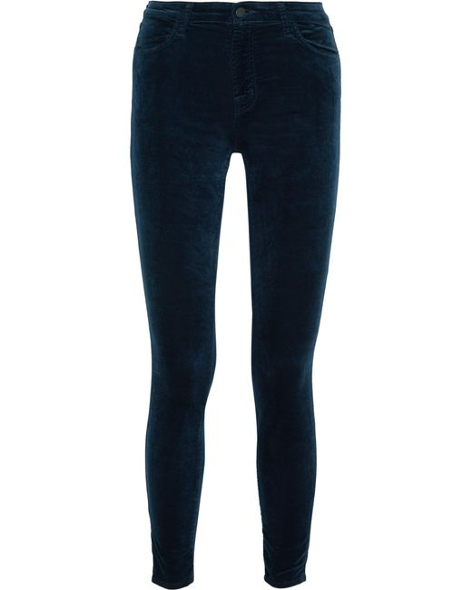 J Brand | Blue Maria Cotton-blend Velvet Skinny Pants | Lyst
