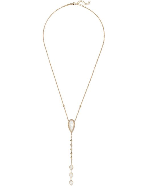 Jacquie Aiche - Metallic 14-karat Gold, Moonstone And Diamond Necklace Gold One Size - Lyst