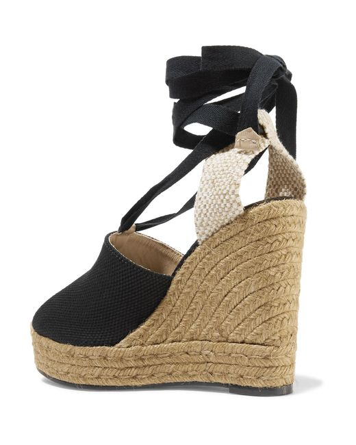 7a3f59af8ff Castaner Nerea 120 Canvas Wedge Espadrilles in Black - Save 51% - Lyst