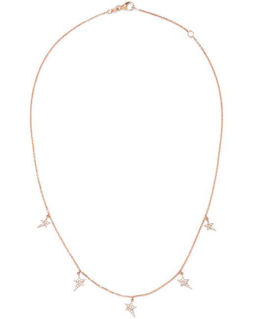 Diane Kordas - Metallic Star 18-karat Rose Gold Diamond Necklace Rose Gold One Size - Lyst